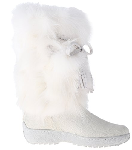 41vYT5Tr 8L Cold-weather boot featuring fox-fur shaft and tasseled wraparound tie Memory Foam and removable insole Lug sole