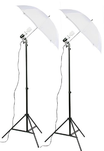 Fancierstudio 2 Light Kit (DK2) Umbrella Lighting Kit, Professional Lighting for Studio Photography, Portrait Lighting and Video Lighting