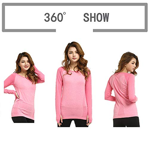 LWJ 1982 Dry Fit Long Sleeve Workout Active Running Shirts Yoga Exercise Tops Hiking Athletic Clothes Women Tee 16 Fashion Online Shop gifts for her gifts for him womens full figure