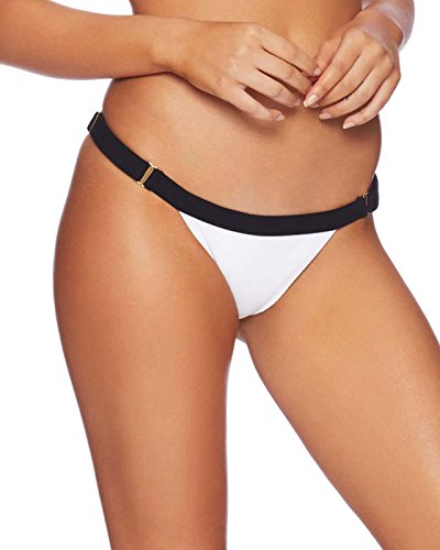 41vbg1R3K5L Low rise bikini bottom with thin sides and adjustable lingerie sliders Offers cheeky backside coverage