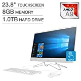 2019 HP 23.8' FHD Touchscreen IPS-WLED Backlit Micro Edge Display AIO Desktop Computer, 7th Gen AMD A9-9425 Up to 3.7GHz, 8GB DDR4 RAM, 1TB HDD, 802.11AC Wifi, Bluetooth 4.2, HDMI, USB 3.0, Windows 10