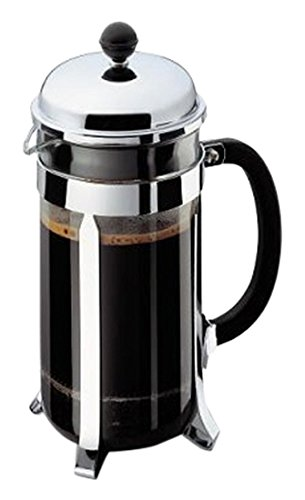 Bodum CHAMBORD Coffee & Tea Maker, French Press Coffee Maker, Stainless Steel & Heat-Resistant Borosilicate Glass, The Original French Press, Made in Europe, 8 cup, 1 liter, 34 ounces
