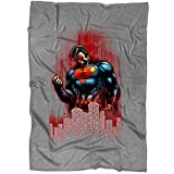"""TAMPSHOP I Am Superman Blanket for Bed and Couch, Great Superman Hero Blankets - Perfect for Layering Any Bed (Large Blanket (80""""x60""""))"""