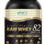 NATURYZ Light Digest Raw Whey 82 Protein with Whey Protein Isolate and Digezyme 1KG (1)