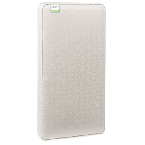 """Sealy Flex Cool 2-Stage Airy Dual Firmness Toddler & Baby Crib Mattress, Waterproof & Breathable Soft Cotton Cover, Firmer Infant Side, Softer Toddler Side, Easy Clean, 51.7""""x 27.3'"""