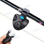 OriGlam Electronic Fishing Rod LED Light Alert Bell Clip on Fishing Rod, Fish Finder Fish Bite Alarm Tool Sound-light