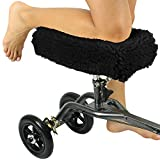 Vive Knee Walker Pad Cover - Plush Synthetic Faux Sheepskin Scooter Cushion - Accessory for Knee Roller - Leg Cart Improves Comfort During Injury - Padded, Washable Protector Pillow for Kids, Adults