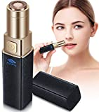 Facial Hair Removal for Women, POPPYO Painless Hair Remover Ladies Mini Travel Size Hair Trimmer for Peach Fuzz, Chin Cheek Hair, Upper Lip Moustaches, Sideburns, Waterproof, Battery Powered