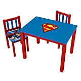 "O'Kids 0122002 Superman Table and Chairs Set-Large, 24"" Height, 31.5"" Wide, 23.75"" Length, Multicolor"