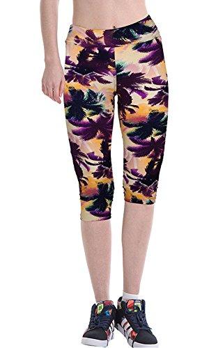 8f62f0cfdc0b92 Women High Waist Fitness Yoga Sport Pants Printed Stretch Cropped Leggings