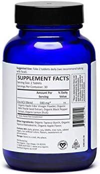 Ora Organic Apple Cider Vinegar Pills - ACV Metabolism Booster, Detox Cleanse, Weight Management - Organic Apple Flavor, 1 Month Supply, 60 Vegan Tablets 7