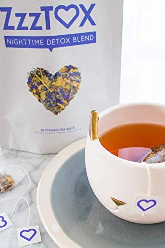 SkinnyFit ZzzTox Nighttime Detox Tea: Caffeine-Free, All-Natural, Laxative-Free, Chamomile, Lavender, Vegan, Supports Weight Loss, Helps Fight Toxins, Restful Sleep, Non-GMO, 28 Servings 9