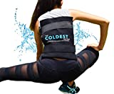 The Coldest Ice Pack Large Flexible Gel Ice Pack and Wrap with Elastic Straps Specific for Cold Therapy - Ice Pack for Back Leg Sprains, Muscle Pain, Bruises, Injuries - 11' x 14' (Black)