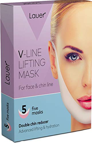 V Shaped Slimming Face Mask Double Chin Reducer V Line Lifting Mask Neck Lift Tape Face Slimmer Patch For Firming and Tightening Skin 1