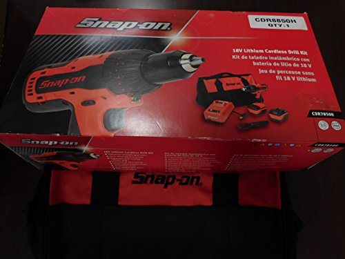 Snap-On 18 Volt Lithium 1/2' Drive Red Cordless Drill Kit, Part #CDR7850H