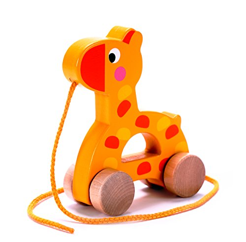 Pull Toys For Girls : Adorable giraffe wooden pull along toy for baby toddler