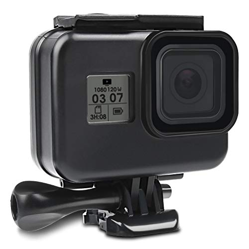 Kupton-Waterproof-Case-for-GoPro-Hero-8-Black-Housing-Case-Diving-Protective-Housing-Shell-60-Meter-for-GoPro-Hero-8-Black-Action-Camera-with-Bracket-Black