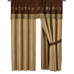 Western Star Embroidery Curtain Set