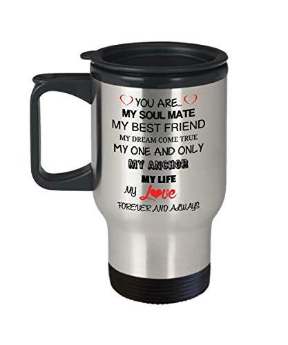 Love You Forever Travel Mug Wife Husband Partner Fiance Boyfriend Girlfriend Stainless Steel