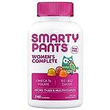 SmartyPants Women's Complete Multivitamin: Non-GMO, Multivitamin Plus Omega 3, Folate, Vitamin D3, Vitamin B, CoQ10, 240 Adult Gummies