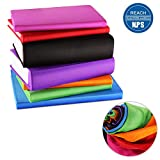 ORASANT 7-Pack Book Covers for Hardcover Textbooks,Stretchable up to 9'x13',Washable and Recyclable Book Covers with 18 Unique Filming Labels for Jumbo Books and Textbook,Extra Large Fabric Book Socks