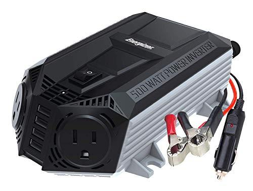Energizer 500 Watt Power Inverter 12V DC to AC Plus 4 x 2.4A USB Charging Ports Total 9.6A
