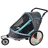 Fold Bicycle Trailer Children Jogging Stroller Combo 2 in 1 Child Jogger Trailer Can Hold 2 Kids Baby Stroller Trailer