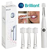 Sonic Toothbrush for travel by Compac, Only uses single AAA Battery, Super-Fine Micro Bristles for Brilliant Smile