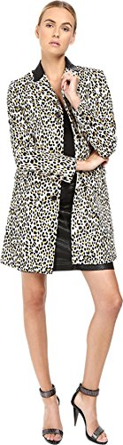 Keep your cool with this paws-itvely savvy Just Cavalli® Love Cat Print Button Front Runway Jacket. Contrasting point collar. Front button closure.