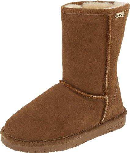 BEARPAW Women's Emma Short Boot,Charcoal,9 M US