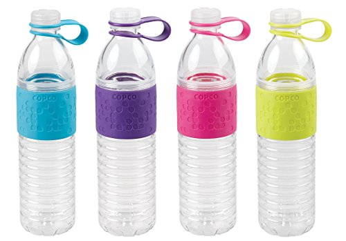 Copco Hydra Bottle, 20-Ounce, 4 pack, (Blue, Purple, Pink, Lime)