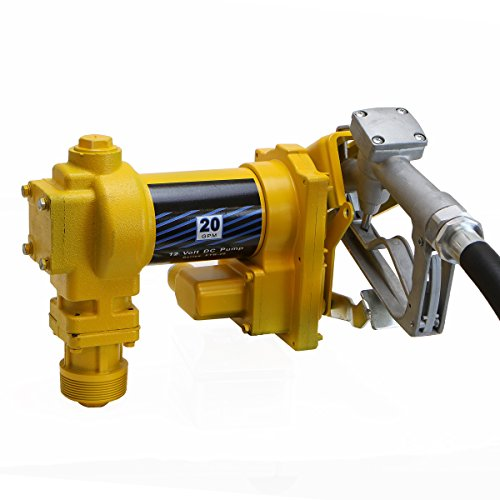 XtremepowerUS 12 Volt DC 20GPM Gasoline Fuel Transfer Pump Self-Priming W/ Nozzle