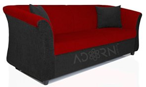 Adorn-India-Acura-3-seater-sofaMaroon-Black