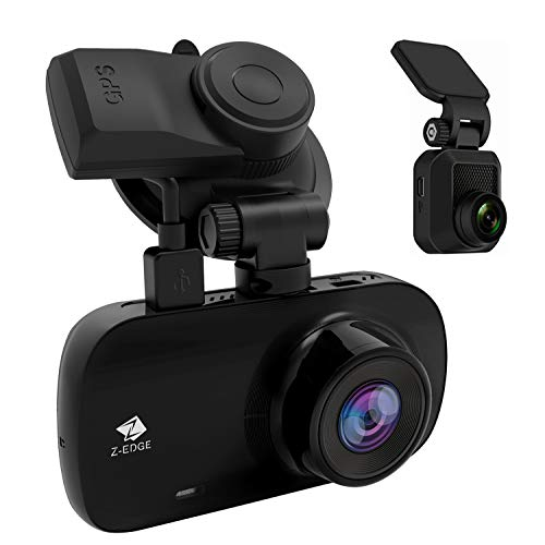 Z-Edge Z3D Dual Lens Dash Cam, 2.7' Screen Ultra HD 1440P Front & 1080P Rear 150 Degree Wide Angle Front and Rear Dash Cam, Dashboard Camera with GPS, WDR, Low Light Vision, Parking Mode, G-Sensor