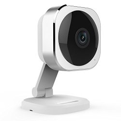 JCO Electronic Technology Mini Cube Wireless Home Security Surveillance IP Camera 180° Wide View Angle, Silver (1080P)