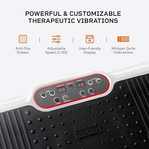 LifePro Waver Vibration Plate Exercise Machine - Whole Body Workout Vibration Fitness Platform w/Loop Bands - Home Training Equipment for Weight Loss & Toning 5