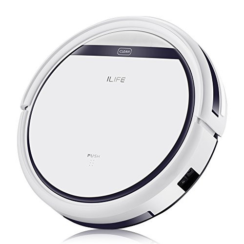 ILIFE V3s Pro Robotic Vacuum, Newer Version of V3s, Pet Hair Care, Powerful Suction Tangle-free, Slim Design, Auto Charge, Daily Planning, Good For Hard Floor and Low Pile Carpet - ILIFEV3spro