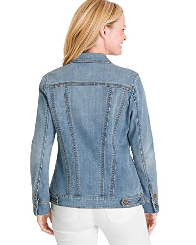 Chico's Women's Stretch Jean Jacket Denim Blue 2 Fashion Online Shop gifts for her gifts for him womens full figure