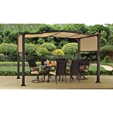 Steel Pergola Gazebo 12' x 10' Outdoor Patio Shelter