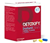 Detoxify Instant Clean - 3 Capsules | Professionally Formulated Herbal Detox Capsules | Enhanced with Metaboost, Milk Thistle Extract, Uv Ursi & Ginseng Extract