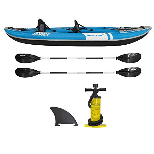 Driftsun Voyager 2 Person Inflatable Tandem Kayak, Includes...