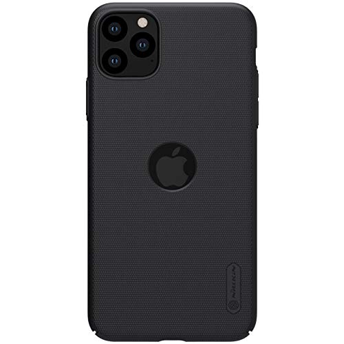 Nillkin Frosted Shield Ultra Thin Hard Plastic Back Cover Case for Apple iPhone 11 Pro- Black (with Logo Cutout) 9