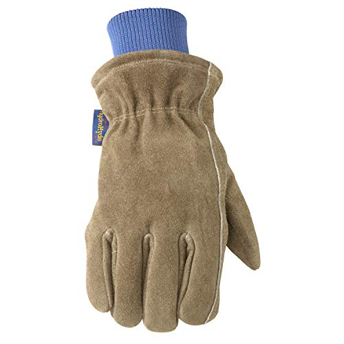 Men's HydraHyde Insulated Split Leather Winter Work Gloves, Large (Wells Lamont 1196L)