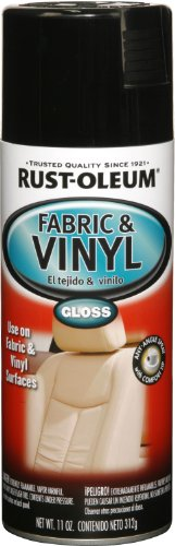 Rust-Oleum 248918 Automotive Fabric & Vinyl Spray Paint, 11-Ounce, Gloss Black