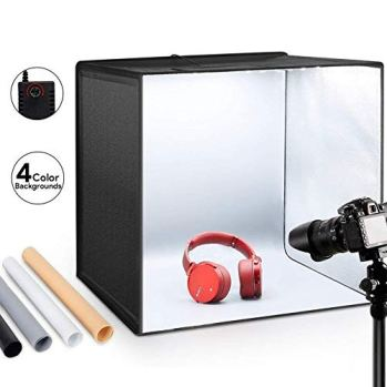 ESDDI-Photo-Studio-Light-Box-2050cm-Adjustable-Brightness-Portable-Folding-Hook-Loop-Professional-Booth-Table-Top-Photography-Lighting-Kit-120-LED-Lights-4-Colors-Backdrops