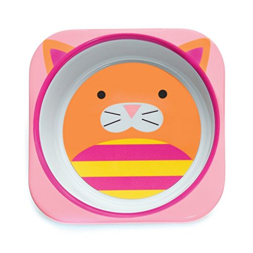 Skip Hop Baby Zoo Little Kid and Toddler Melamine Feeding Bowl, Multi Chase Cat