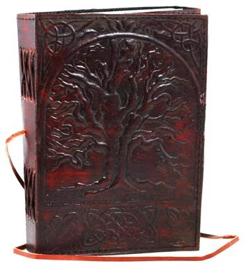Sacred Oak Tree Leather Blank Book