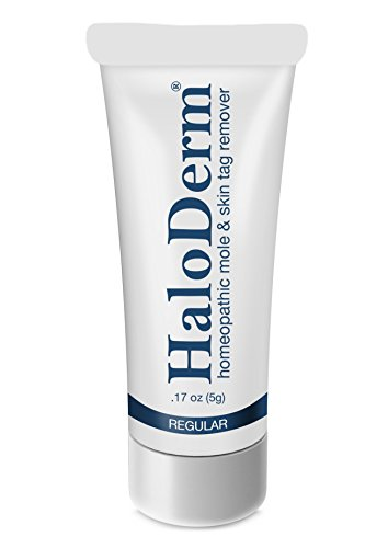 HaloDerm Skin Tag Remover & Mole Corrector - All Natural Skin Tag Cream - Remove up to 3 Skin Tags (FAST Results In As Little As 3-5 Days) - Industry Leading Safe & Effective Formula
