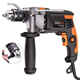 Hammer Drill,TACKLIFE Upgraded 7.1Amp/3000Rpm Electric Drill, 1/2-Inch(13mm) Impact Drill with Aluminium Alloy Cover, Metal Rotating Handle, Variable Speed Trigger, Ideal Tool for DIY-PID03A