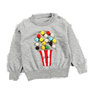 BCVHGD Bobo Choses Kids Sweaters Girl Lovely Popcorn Sweaters Kids Autumn Winter Knitting Clothes Boys Tops